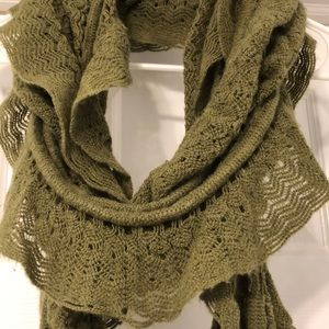 Olive Green Knit Scarf
